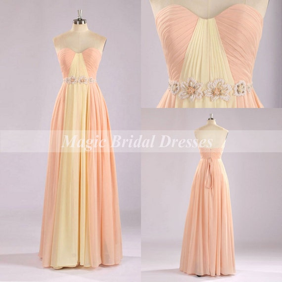 Beautiful Bright Warm Color Prom Dress 2015 By