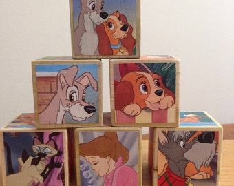 Lady and the Tramp storybook blocks