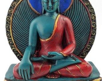 STATUE BUDDHA MEDICINE care meditation zen tibet nepal Buddhism Tibetan boumed1