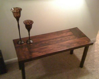 Stylish Butcher Block Coffee Table