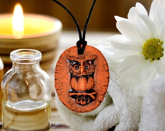 Aromatherapy pendant essential oil perfume necklace Terracotta Clay fragrance diffuser #G10