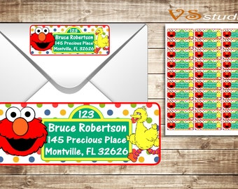 Sesame Street return Address Labels - Personalized-Printable-PDF