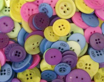 50 Bright Buttons - Mixed Button Sizes - Sewing Buttons - #DSP-00003