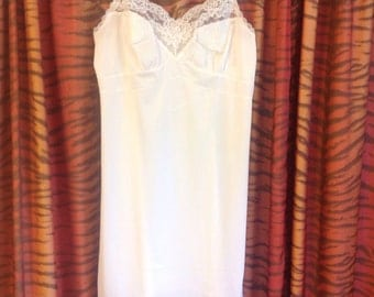 Vintage White Full Slip