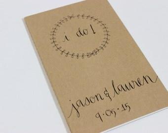 I Do Moleskine Notebook with Wedding Date