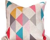 Geometric pillow cover geometric cushion cover in multicolour 24x24