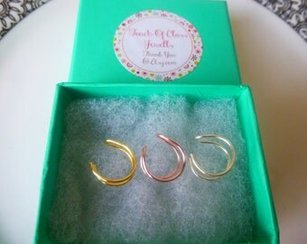 Fake double nose ring set.