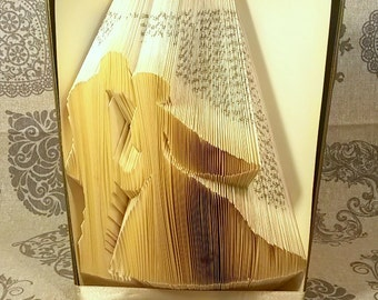 Book folding Pattern for Wedding couple - Engagement - Kiss - Love - Tutorial -Handmade T67-169