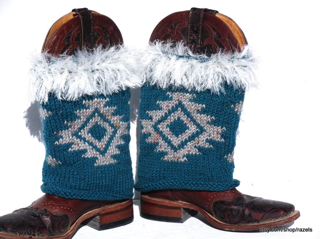 Fringe Boots Knitted Boot Covers Cowgirl Boot Covers Boot