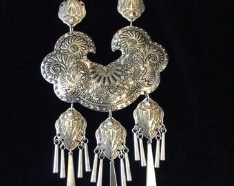 statement Necklace; Chunky Necklace; Tribal Necklace; Boho Jewelry; Tribal Jewelry; Fun Piece; Cool Jewelry; Long Necklace