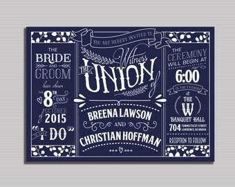 Vintage Wedding Invitation - Printable Digital File