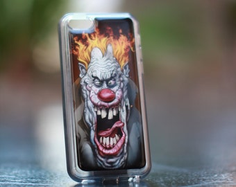 Burning  Clown  Iphone 5C TPU Case/Cover