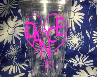 Dance Tumbler, Dance Heart Tumbler, Dance, Love To Dance