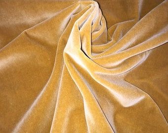Vintage Antique Gold velvet 100% cotton - dense and beautiful, Made in Germany, 36 inches wide