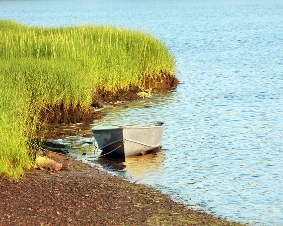 Old Row Boat Fine Art Photography Wall Photo Print Boating