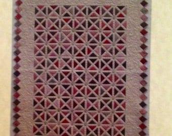 RASPBERRY FUDGE RIPPLE pieced quilt pattern by Button Stitch Designs