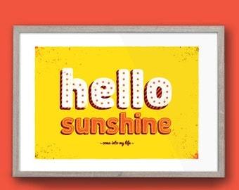 Hello Sunshine | A2 Print