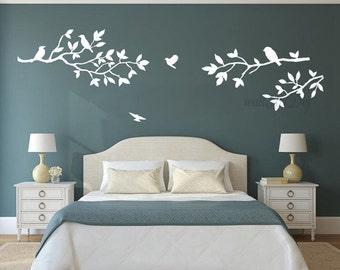 Albero parete adesivi albero ramo parete adesivi di wallartdiy for Stencil parete