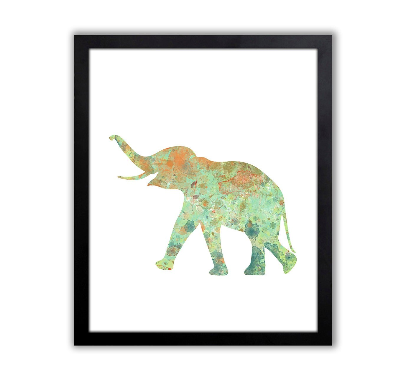 Baby Elephant Art Elephant Decor Watercolor Animal