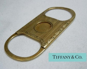 Rare 1902 Engraved Tiffany And Co 14kt Gold Cigar Cutter I.j.f