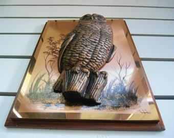 Owl, Owl Statue, Owl Figurine, Copper Wall Art, Owl Sculpture, Owl Decor, Rustic Home Decor, Owl Lover Gift, Wildlife, Farmhouse Decor