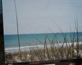 Emerald Isle - Crystal Coast - photo canvas - turquoise water and seagrass - beach house decor - coastal decor - coastal photography