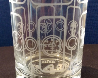 Rush - R40 - Laser Etched Rocks Glass
