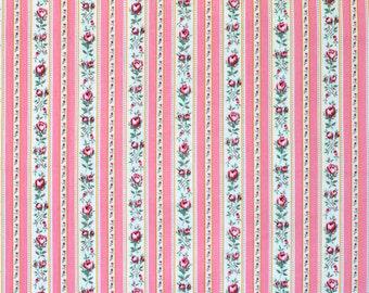 SALE Robin Mynatt Floral Stripe for Paris Bebe Fat Quarter OOP & HTF