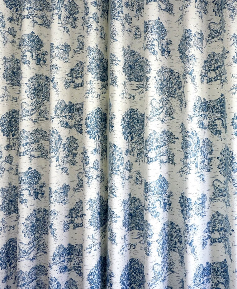 Toile Curtains Drapery Panels Window Treatment Designer Panels