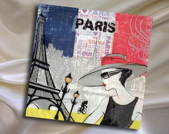 Paper napkin for decoupage, Paris, Eifel tower size 33x33 (no.27) Set of three paper napkins