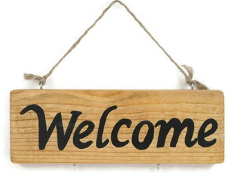 Wooden Welcome sign - Wooden sign - Wooden gift - Hanging sign - Decorative welcome sign - Door sign - House sign - Housewarming gift