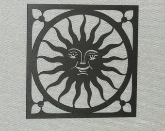 Happy Sun Face Wall Decor Laser Cut Wood Art