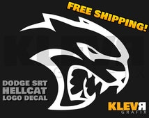Dodge SRT Hellcat Challenger Charger Logo Vinyl Decal Sticker 6.2L V8 Mopar Hellcat Decal