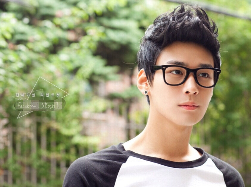 Hairstyles For Guys With Big Ears: Korean Style Short Men Curly Full Wigs Boy Student Fake Hair