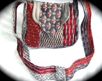 Unique Necktie Purse, Upcycled Necktie Handbag, Gift for Mom, Handmade