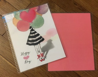 Front and Back Cover Set Happy Day with Balloons for use with Erin Condren or Happy Planner