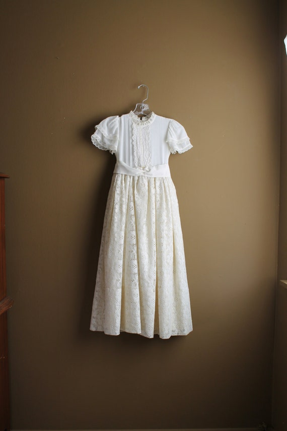 Vintage flower girl dress rustic wedding by oldworldcharmme for Country wedding flower girl dresses
