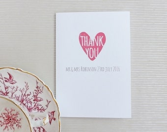 Simply Love Folded Thank You Card A6