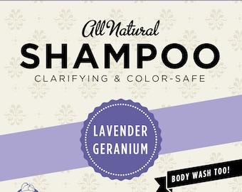 Lavender-Geranium Organic Shampoo (Trial Size)