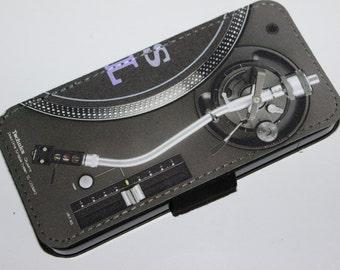 Custom Printed Technics turntable1210s 1210 vinyl DJ Record deck Apple iphone 4 4s 5 5s 5c 6 6 plus flip case cover