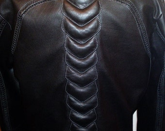 Invader - men's leather jacket (Free shipping)