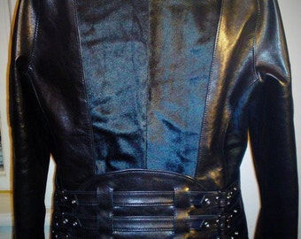 Sky Turtle - women's leather jacket (Free shipping)