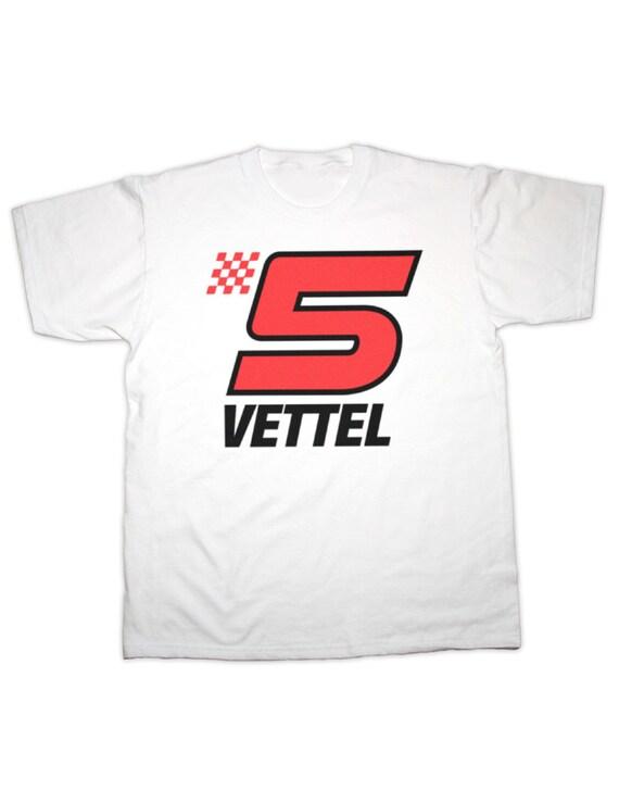 sebastian vettel 5 racing print children 39 s t shirt by. Black Bedroom Furniture Sets. Home Design Ideas