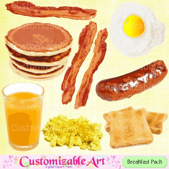 Breakfast Clipart Food Clipart Drink Clipart Digital Breakfast