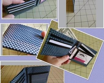 Checkerboard Bi-Fold Duct Tape Wallet
