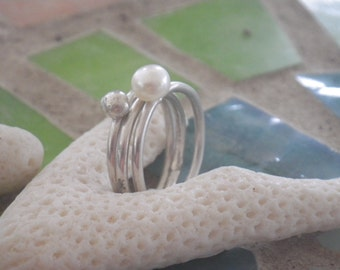 Pearl Stack Ring Set