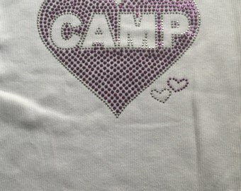 Camp Heart Pink or Purple Transfer or Iron