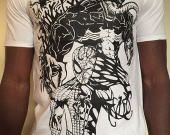 Venom Spider-Man tshirt T-shirt . Carnage, Print, Marvel inspired Original design.