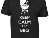 Keep calm and BBQ tshirt