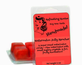 Watermelon Jolly Rancher - Soy Wax Tarts - 6 Pack Clam Shell